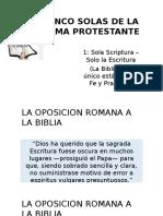 Las Cinco Solas de La Reforma Protestante Solo Escritura