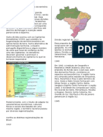 O Processo de Divisão Regional Do Território Brasileiro