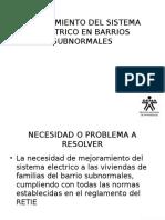 Mejoramiento Del Sistema Electrico en Barrios Subnormales