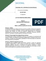 Ley de GARANTIAS MOBILIARIAS