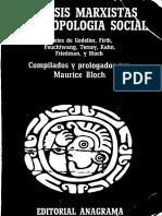 Bloch - Analisis Marxistas y Antropologia Social