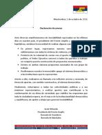 Declaración de Prensa 5-10-16