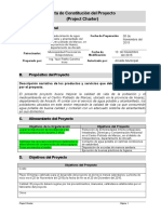 Plantilla Project Charter FLUOR