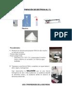 Preparación de Dextrosa