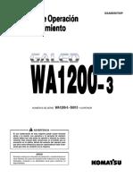 Manual de Operación y Mantención en Español WA 1200
