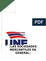 Sociedades Mercantiles en General