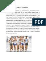Historia Del Atletismo en Guatemala