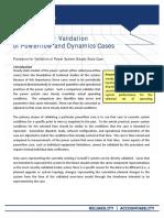 Model Validation Working Group MVWG-Model Validation Procedures 2011 12