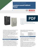 LB2-UCxx-x Premium-sound Cabinet Loudspeaker Range Data Sheet EnUS