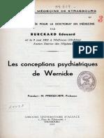 Tesis 06196 Les Conceptions Psychiatriques de Wernicke Burckard Edouard 1931
