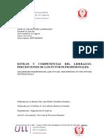 Estilos y Competencias Del Liderazgo.percepciones de Los Futuros Profesionales.