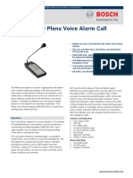 LBB 1956 00 Plena Voice Alarm Call Station Data Sheet EnUS