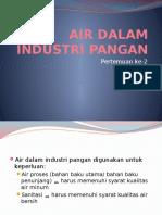 Air Di Industri Pangan