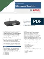 MW1-RX-F5 UHF Microphone Recei Data Sheet EnUS 11201320075 F4&F5
