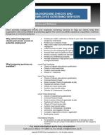 Background Checks & Employee Screening