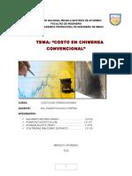 COSTOS Chimenea Convencional.
