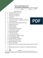 Fork Truck Performance Test (Sample)