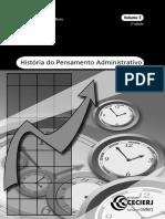 História Do Pensamento Administrativo - Volume 3