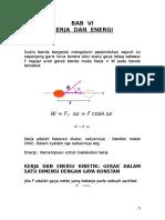 BAB VI Kerja & Energi1