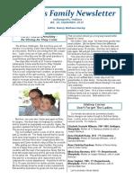 2015 Niehaus Family Newsletter