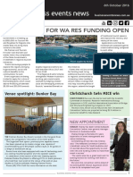 Business Events News for Thu 06 Oct 2016 - Regional Events Scheme, Pullman Bunker Bay, ICC Sydney, Mantra Legends and much more