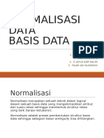 Presentasi Normalisasi Basis Data