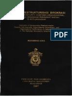Implikasi Resktrukturisasi Birokrasi terhadap Job Insecurity Komitmen Organisasional dan Kinerja Organisasi Perangkat Daerah di Kota Makassar