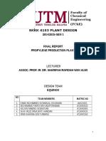 Production of Propylene