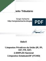 Impostos Privativos Da União - Sérgio Karkache