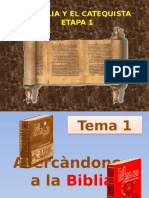 Tema 1 La biblia y el catequista