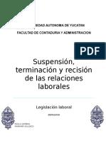 UIIIADA1_Suspensión_Rescisión y Terminación de Las Relaciones de Trabajo