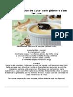 Manjar Cremoso de Coco Sem Glúten e Sem Lactose
