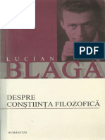 Lucian Blaga - Despre constiinta filozofica.pdf
