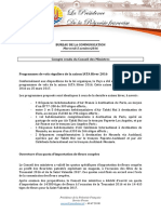 Compte Rendu Du Conseil Des Ministres - Mercredi 5 Octobre 2016