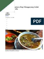 Kuliner Nusantara Siap Menggoyang Lidah Warga Australia