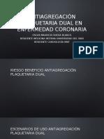 Antiagregación Dual en Enfermedad Coronaria