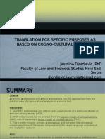 Jasmina Djordjevic, Translation for Specific Purposes as Based on Cogno-Cultural Analysis, Jezik Struke (2)
