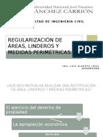 Regularización de Áreas, Linderos y Medidas Perimétricas
