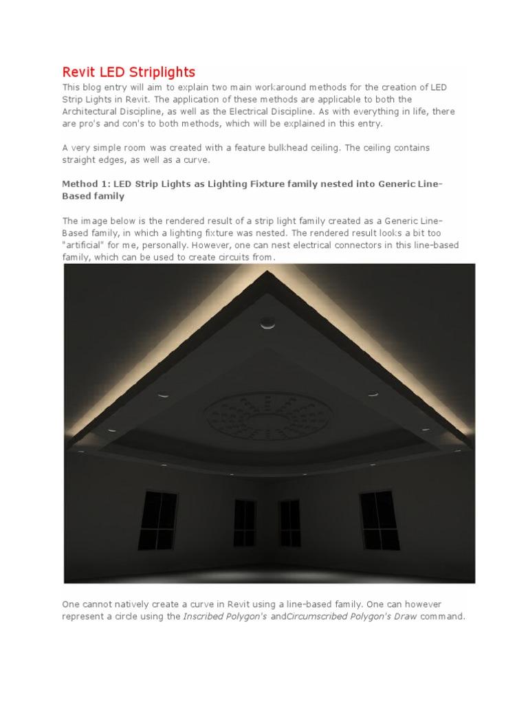 Revit led striplights rendering computer graphics lighting arubaitofo Choice Image