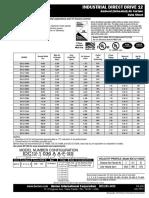 Berner Industrial Direct Drive 12 Ambient Air Curtain Data Sheet