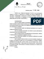 Res. Min. 767-03 de La Nación