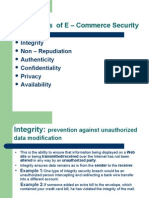 Dimensions of E-commerce Security - Integrity