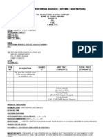 proforma invoice with general conditions