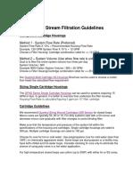 Sidestream Filtration Guidelines1