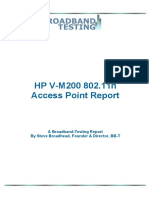 HP v-M200 802.11n Access Point Report