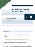 noSQL v newSQL