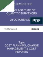 Cost Management - IIQS Presentation 28 October 2015