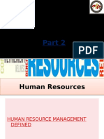 Human Resources (Part 2)