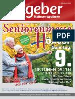 Ratgeber aus Ihrer Malteser-Apotheke – Oktober 2016