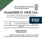 Puebla Ley Egresos 2016
